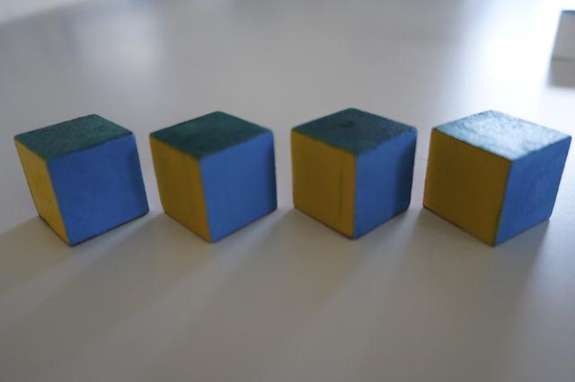 Kolorowe kostki 1