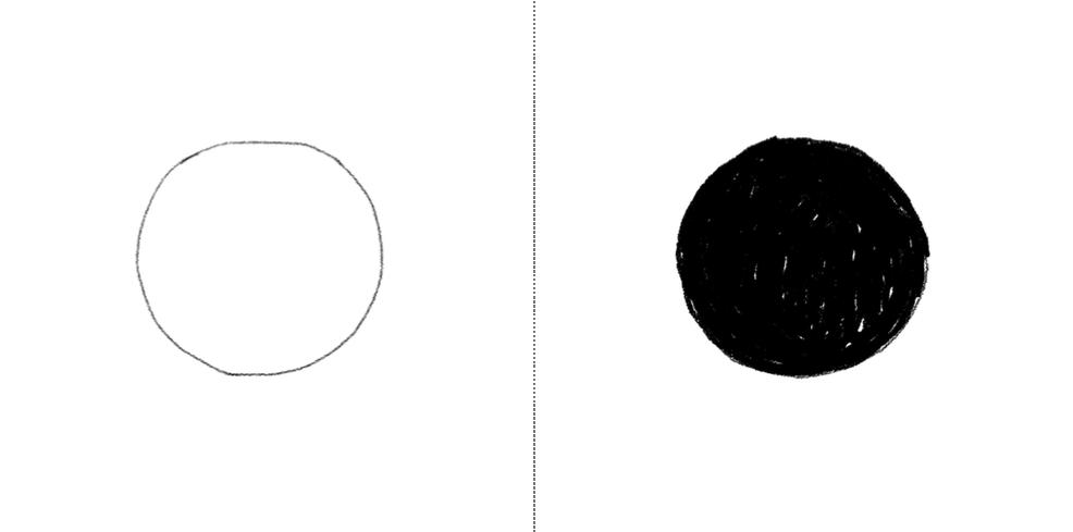 koła czarne białe